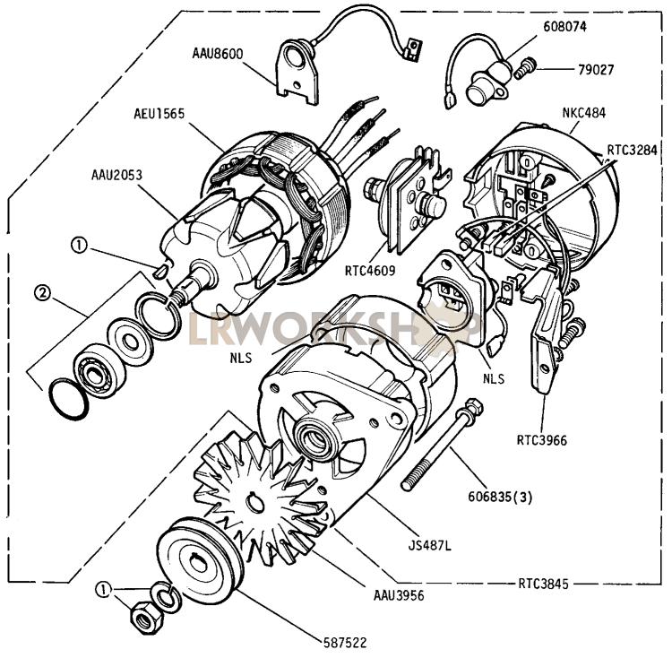 Alternator - 16 Acr 12 Volt 34 Amp Battery Sensed