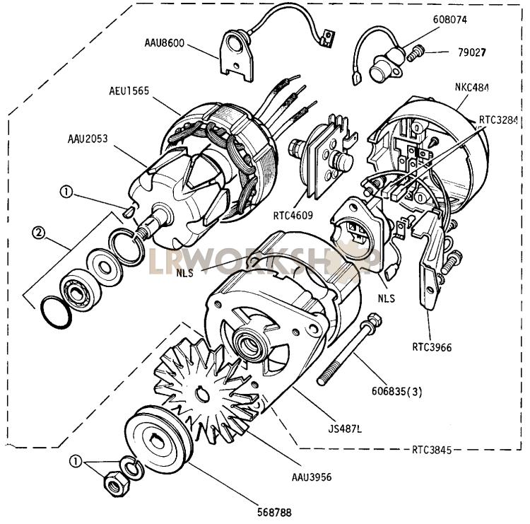 Alternator - 16 Acr 12 Volt 34 Amp Battery Sensed - 2 25 Litre Diesel