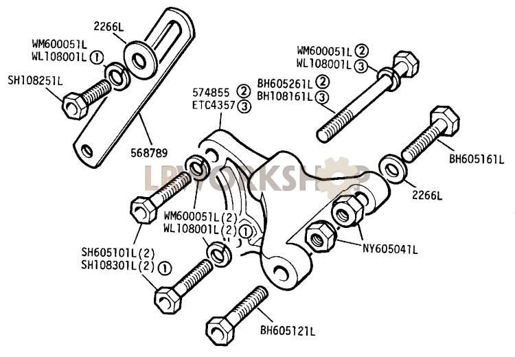 Alternator Fixings - 2.25 Litre Diesel - Find Land Rover parts at LR Workshop