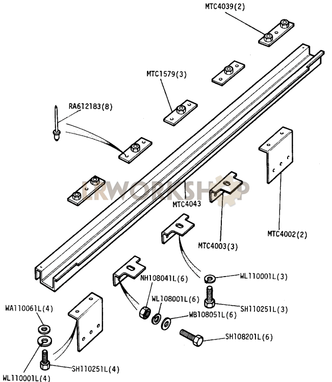 rear mounting brackets crossmember - hcpu