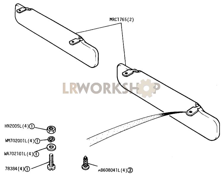 Interior Sun Visor Part Diagram: Land Rover County Ac Wiring Diagram At Johnprice.co