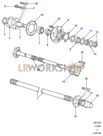 Hubs & Driveshafts Part Diagram