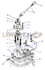 Gearchange & Lever Part Diagram