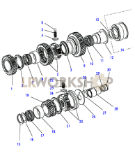 Mainshaft Gears Part Diagram
