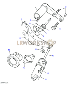 Clutch Release Mechanism Part Diagram