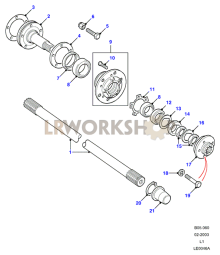 Hubs & Drive Shafts Part Diagram