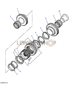 Mainshaft Gears 1st/2nd Part Diagram
