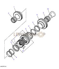 Mainshaft Gears 1st/2nd Part Diagram