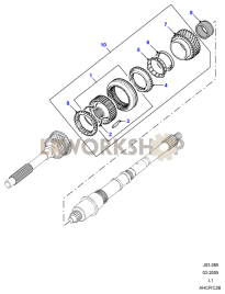 Mainshaft Gears 3rd/4th Part Diagram