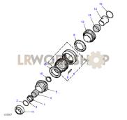 Mainshaft Gears 5th/Reverse Part Diagram
