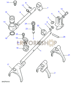 Selectors & Shafts Part Diagram