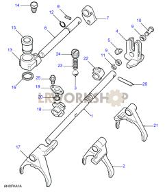 Selectors & Shafts Part Diagram