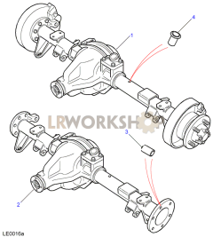 Rear Axle Assembly Part Diagram