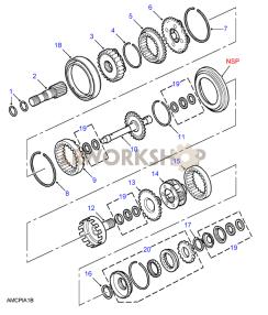 Web Shaft & Fourth Gear Part Diagram
