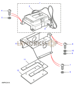 Auto Selector Mounting Part Diagram