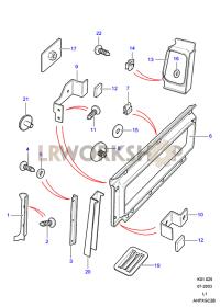 Verkleidungen - Karosserie Part Diagram