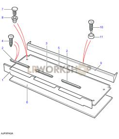 Teppiche, Mittelboden Part Diagram