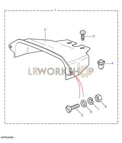 Abdeckung Zusatznstrumente Part Diagram