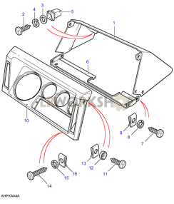 Dashboard Cowl Instrument Binnacle Part Diagram