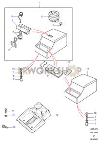 Konsolenablage, Aerodynamisch Part Diagram