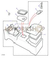 Konsolenablage Part Diagram