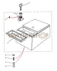 Konsolenablage, Rechteckig, Einsatz Entnehmbar Part Diagram