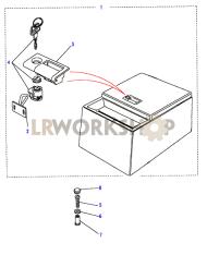 Konsolenablage, Rechteckig, Fester Einsatz Part Diagram