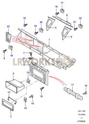 Dashboard Facia Moulding Part Diagram