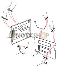 Vordertürgehäuse, Ohne Lautsprecheraussparung, Ab Part Diagram