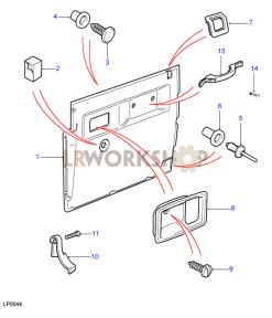 Vordertürgehäuse, Mit Lautsprecheraussparung Part Diagram