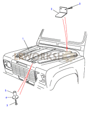 Insulation-Bonnet Part Diagram