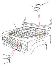 Insulation - Bonnet Part Diagram