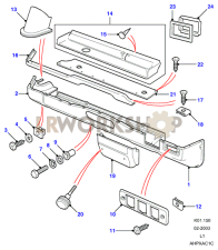 Parcel Tray & Heater Duct Part Diagram