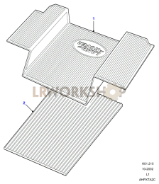 Rubber Mats - Rear Floor Part Diagram