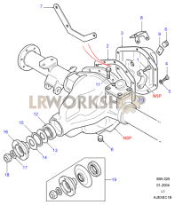 109_rear_axle_case_assembly rear axle diagrams land rover workshop axle diagram at gsmx.co