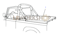 Tonneau Cargo Tilt Part Diagram