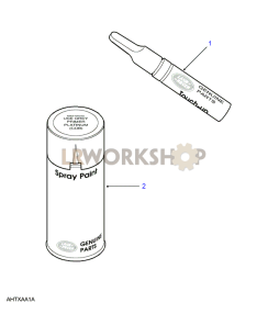 Aerosols & Touch Up Pencils Part Diagram