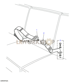 Centre Front Seat Belt Assembly Part Diagram