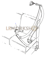 Front Seatbelt Assembly - Except Length Hood Part Diagram
