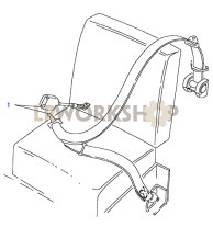 Front Seatbelt Assembly - Full Length Hood Part Diagram