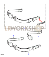 Rear Seat Belt - Inward Facing Part Diagram