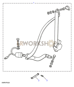 Seat Belt Assembly - Front Part Diagram