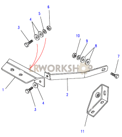 Seat Belt - Front Seat Base Anchorage Part Diagram