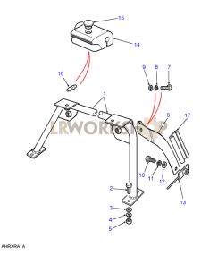 Soft Top Front Seat Anchorage Rail Part Diagram