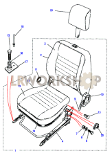 Front - With Head Restraint Part Diagram