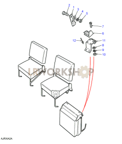 Second Row Seats (Individual) - Latch Mechanism Part Diagram