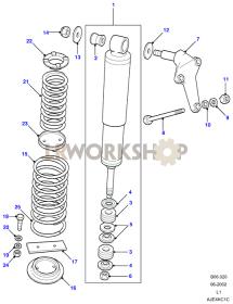 Shock Absorbers & Springs Part Diagram