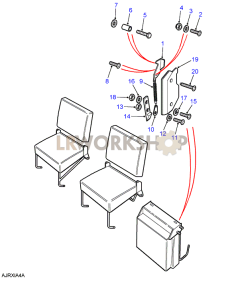 Second Row Seats (Individual) - Squab Latch Part Diagram