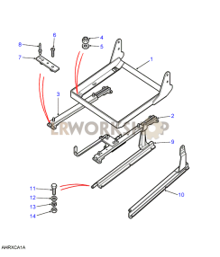 Seat Support & Runners - Basic Vinyl Part Diagram