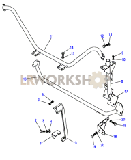90SV - Roll Cage Lower Part Diagram